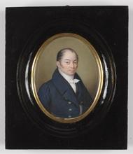 """Bernhard VON GUÉRARD - Miniatura - """"Portrait of a Gentleman"""", Miniature on Ivory"""
