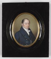 """Bernhard VON GUÉRARD - Miniature - """"Portrait of a Gentleman"""", Miniature on Ivory"""