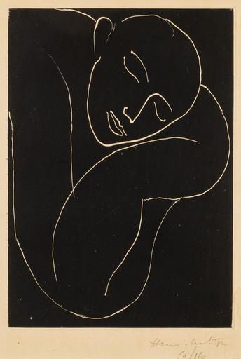 亨利·马蒂斯 - 版画 - L'homme endormi