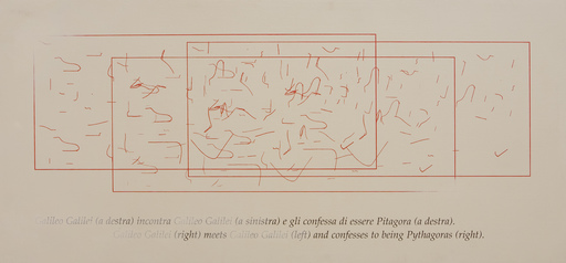 Emilio ISGRO - Gemälde - GALILEO E PITAGORA