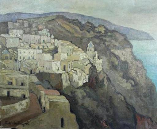 Maritxu BAIGNOL - Pintura - village sur la côte Basque