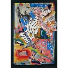 """Frank STELLA - Estampe-Multiple - The Candles (Stapling down and Cutting Up) FROM """"SWAN ENGRAV"""