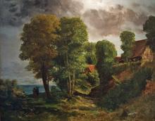 Gustave COURBET (1819-1877) - Paysage au Bord de la Mer
