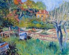 Anne DE LARMINAT - Painting - La Petite Maison Orange