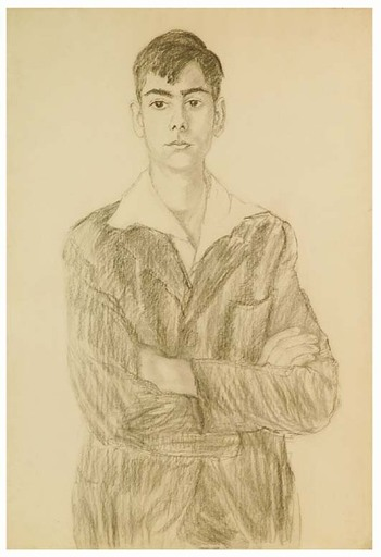 """Broncia KOLLER-PINELL - Drawing-Watercolor - """"Youth"""", early 20th Century"""