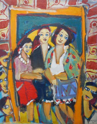 Jean-Pierre CHEVASSUS-AGNES - Painting - les demoiselles de FOMBARLETTES  banlieue de VALENCE (26)