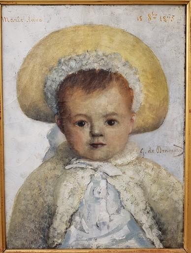 Georges DE DRAMARD - Pintura - Enfant au chapeau
