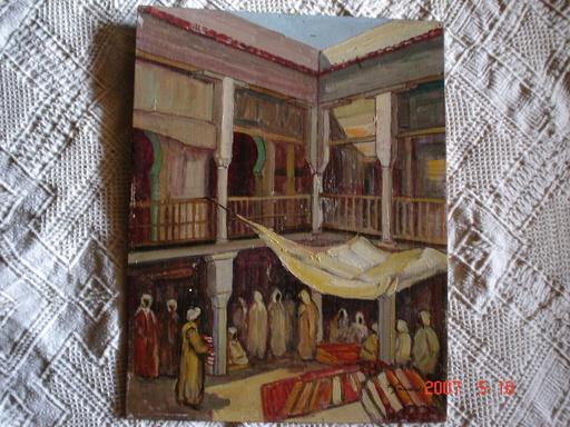 Pierre DE SAEDELER - Pintura - souk au Maroc