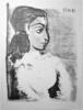 Pablo PICASSO - Estampe-Multiple - Buste de Femme au Corsage blanc (Jacqeline de profil)