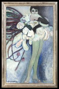 Jean-Pierre CASSIGNEUL - Painting - Portrait de Zizi Jeanmaire