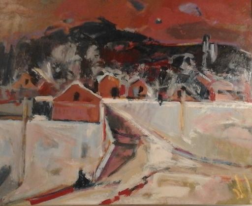 Jean KRILLÉ - Pintura - Winterlandschaft