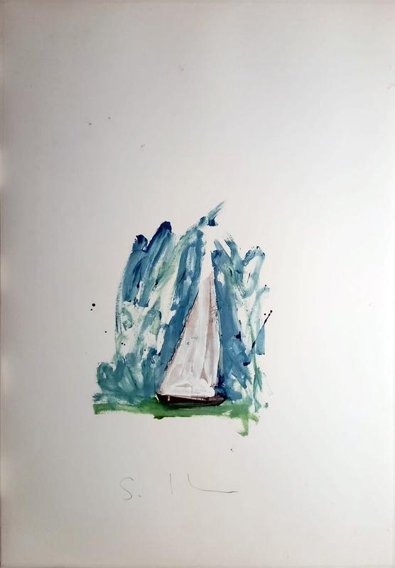 马里奥•斯基法诺 - 绘画 - Barca a vela