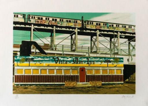 John BAEDER - Estampe-Multiple - Vista Mar Inn
