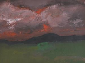 Douglas THOMSON - Pintura - Sunset