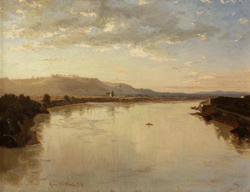 Karl LINDEMANN-FROMMEL - Gemälde - Passeggiata di Poussin verso Monte Mario (1859)