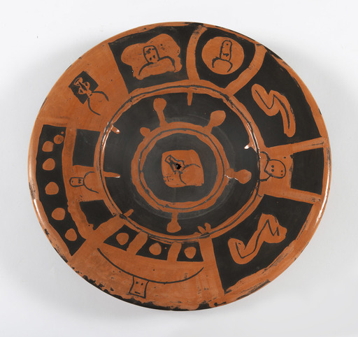 Pablo PICASSO - Keramiken - Têtes de taureau, Motif de décoration (au verso)