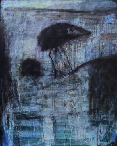 Aharon MESSEG - Gemälde - bird (birds' series)