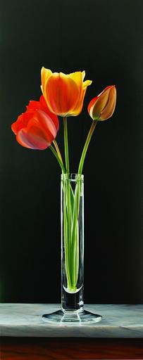 Riccardo GIRAUDO - Gemälde - Tulipani