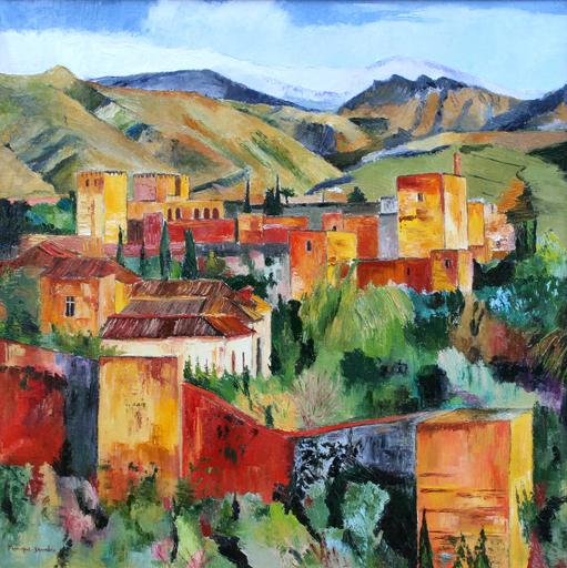 Monique DEVALOIS - Peinture - L'Alhambra