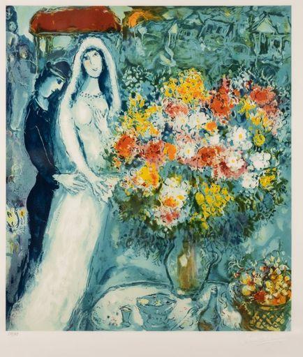 Marc CHAGALL - Stampa-Multiplo - Bouquet de la mariée