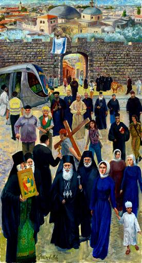 Victor BRINDATCH - Peinture -  Novyye Vorota. Iyerusalim