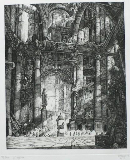 Philippe MOHLITZ - Stampa Multiplo - L'église