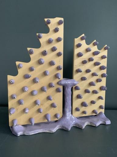 "Olesіa DVORAK-GALIK - Skulptur Volumen - Purple man, installation ""Don`t be a shallow"""