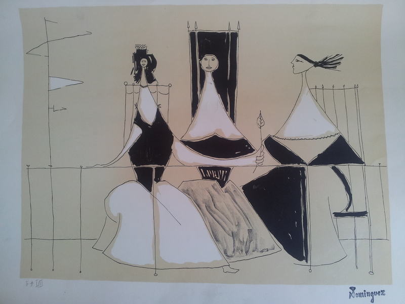 Oscar DOMINGUEZ - Print-Multiple - Three Women on the Veranda
