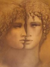 Jean-Paul CLEREN - Grabado - Double visage,1988.