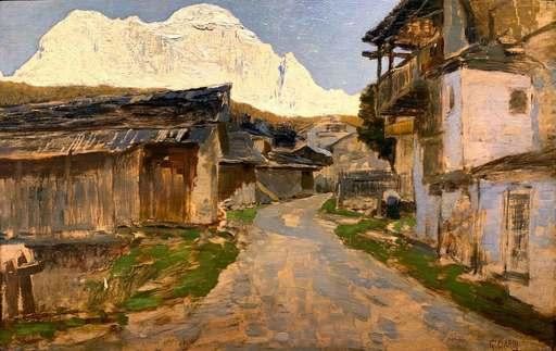 Guglielmo CIARDI - Gemälde - Il Monte Civetta (1895 ca.)