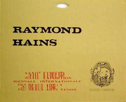 Raymond HAINS - 版画 - La Biennale éclatée