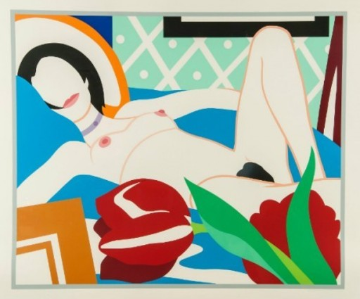 Tom WESSELMANN - Stampa Multiplo - Monica with Tulips