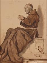 "Francesco COLEMAN - Drawing-Watercolor - ""Forced Repairing"" by Francesco Coleman, ca 1900"