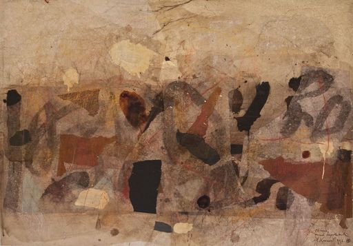 "Anton Paul KAMMERER - Drawing-Watercolor - ""Oktober, einmal unpolitisch"""