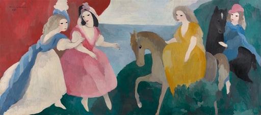 Marie LAURENCIN - Gemälde - La réception des jeunes filles