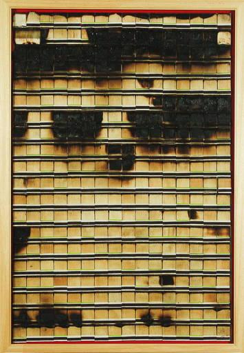 """Bernard AUBERTIN - Sculpture-Volume - Dessin de feu """"Allumettes Brulée"""""""