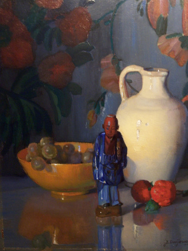 "Jacob DOOIJEWAARD - Painting - ""Stil life with a little white vase"""