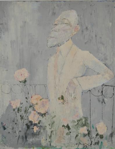 Franco ROGNONI - Pintura - Uomo tra le rose