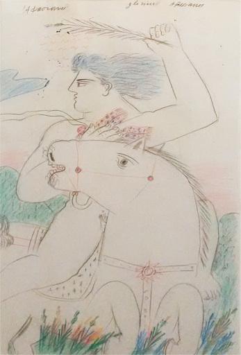Alexandre FASSIANOS - Disegno Acquarello - Glorieux