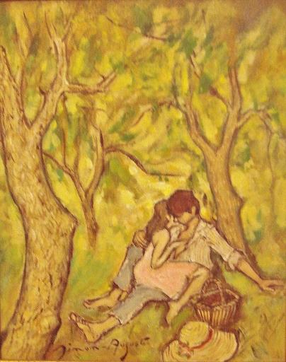 Simon SIMON-AUGUSTE - Painting - TENDRE AMOUR
