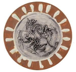 Pablo PICASSO - Ceramic - Scène de tauromachie