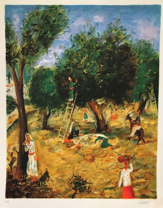 Moshé Elazar CASTEL - Print-Multiple - Olive Pickers