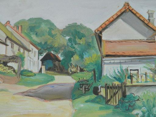 Jean DORVILLE - Drawing-Watercolor - BOURGOGNE - COSNE