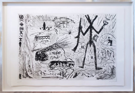 A.R. PENCK - Estampe-Multiple - Expedition to the Holy Land