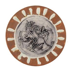 Pablo PICASSO - Céramique - Scène de tauromachie