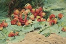 Georges JEANNIN (1841-1925) - Erdbeeren
