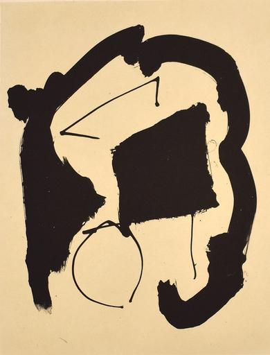 罗伯特•马塞维尔 - 版画 - Composition XXV, from: Octavio Paz – Three Poems