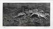 Gerhard MARCKS - Grafik Multiple - Löwe und Zebras