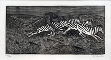 Gerhard MARCKS - Grabado - Löwe und Zebras