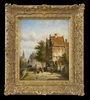 Johannes Franciscus SPOHLER - 绘画 - The Grachten, Amsterdam (Pair)